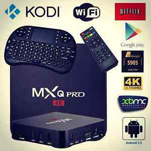 ANDROID 6.0 TV BOX - NEW S905X MXQ PRO - KODI 17 - FREE REMOTE