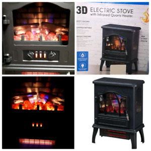 3D electric stove, electric fireplace, new