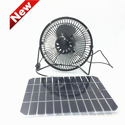 Solar Fan USB Powered by Flexible 5W Panel Portable for Home or Outdoor Cooling