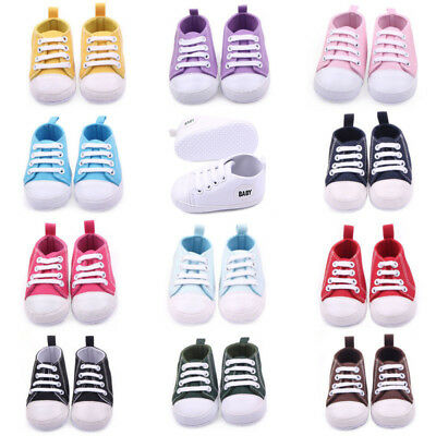 Infant Toddler Baby Boy Girl Soft Sole Crib Shoes Sneaker Ne