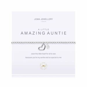 Joma Jewellery  a little AMAZING AUNTIE  elastic bracelet - silver With Gift Bag