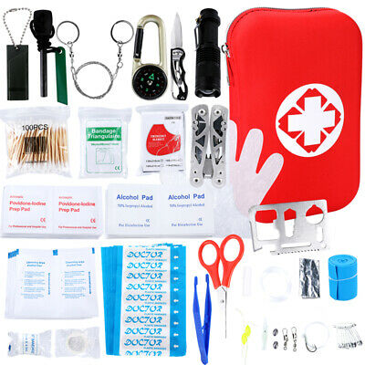 Survival SOS Outdoor Travel Camping Hiking Emergency Equipment Gear Aid Kit