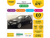 Black BMW 325 2.0TD Auto 2014 d M Sport FROM £72 PER WEEK!