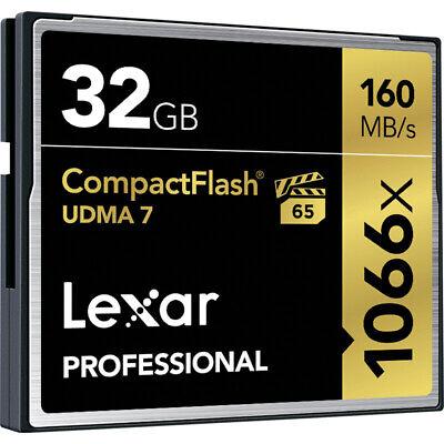 Lexar Professional 32GB Compact Flash 160MB/s CF Memory Card 1066x UDMA 7 VPG-65 Lexar Compact Flash Card