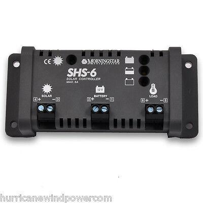 Morningstar SHS-6 Solar Charge Controller w/LVD 6 Amp 12 Volt  Morning Star Solar Charge Controller