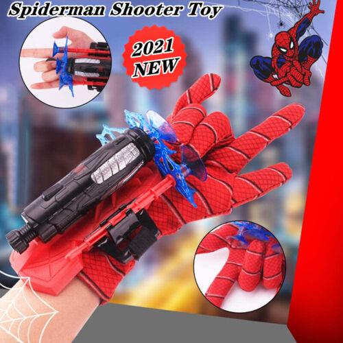 Neu Spider-Man Web Shooter Dart Blaster Launcher Spielzeug mit Costume Gloves DE