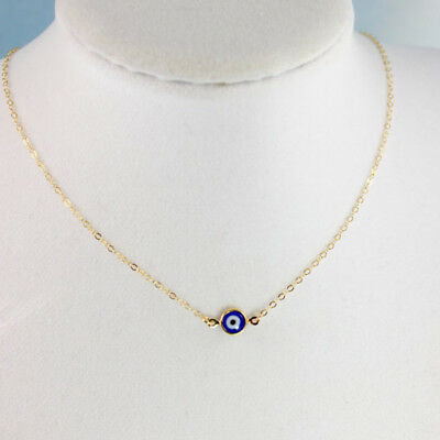 Glass blue Evil Eye Necklaces Gold Blue Eyes Jewelry Kabbalah Jewish Turkish