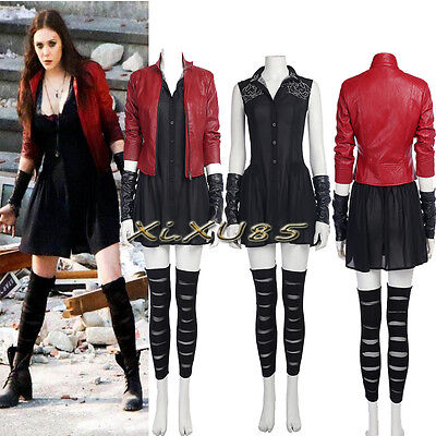 The Avengers Captain America Scarlet Witch Cosplay Costume Suit Halloweeen  (Halloweeen Costumes)