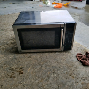 GE microwave and GE electric stove