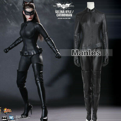 Catwoman Costume Batman Dark Knight Rises Cosplay Fancy Dress Selina Kyle Suits - Catwoman Dress Costume