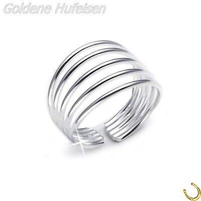5-Reihig ZEHENRING 925 Echt Silber Zehring Top Geschenkidee / xc02