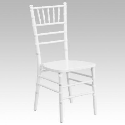 10 Pack White Wood Chiavari Chair With Soft Seat Cushion Wedding Chair