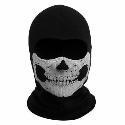 Full Face Skeleton Ghost Skull Face Scarf Hood Biker Halloween Props Balaclava