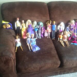 26 Barbie's and Horses and dogs