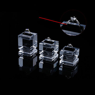 - 3/set Acrylic Jewelry Rings Pendant Display stand show case Holder Organizer