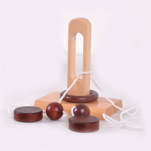 Kids Worm Montessori Puzzle Wooden Toy Threading Lacing Game Educational Gifts