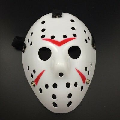 Jason Voorhees Scary Mask prop hockey Halloween Creepy MASK - Hockey Mask Scary