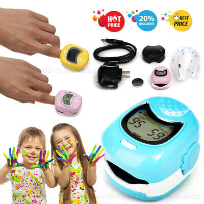 Infant Pediatric Finger Pulse Oximeter Kid Spo2 Blood Oxygen Pr Monitor Cms50qa