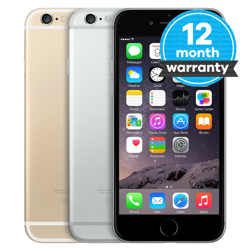 SELLER REFURBISHED APPLE IPHONE 6 - 16GB 64GB 128GB - UNLOCKED SIM FREE SMARTPHONE VARIOUS COLOURS