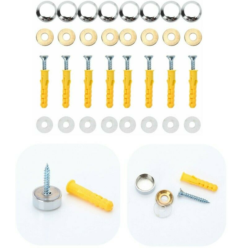Dasket 5pcs Stool Swivel Replacement Caster Wheels Chair Bell Glides to Fixed Castors Stationary