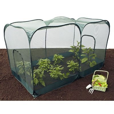 Double Pop Up Crop Cage Plant Protection From Birds - 200x100x135cm