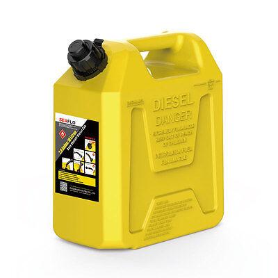SEAFLO 5 L ATV Fuel Cans Diesel Tank Auto Shut Off Plastic Boat Fuel Tank