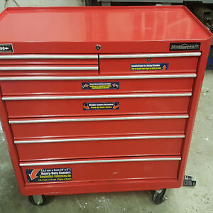 Rollaway toolbox with tools