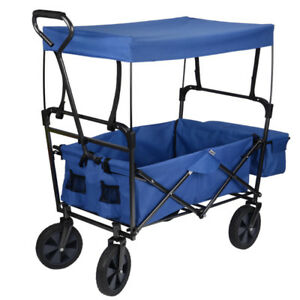 Great Condition! Folding Utility Wagon with Canopy Rubber Tire
