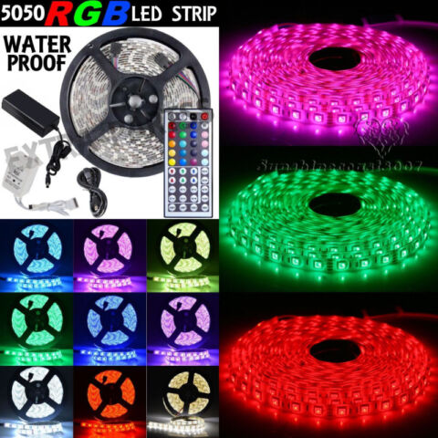 Colors Changing RGB LED Light Tape Package WaterProof Strip New