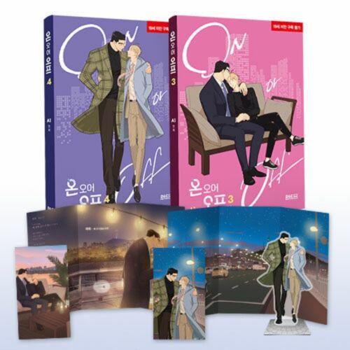 On or Off Vol 3~4 Limited Edition Set Korean Webtoon Book Manhwa Comics Manga BL