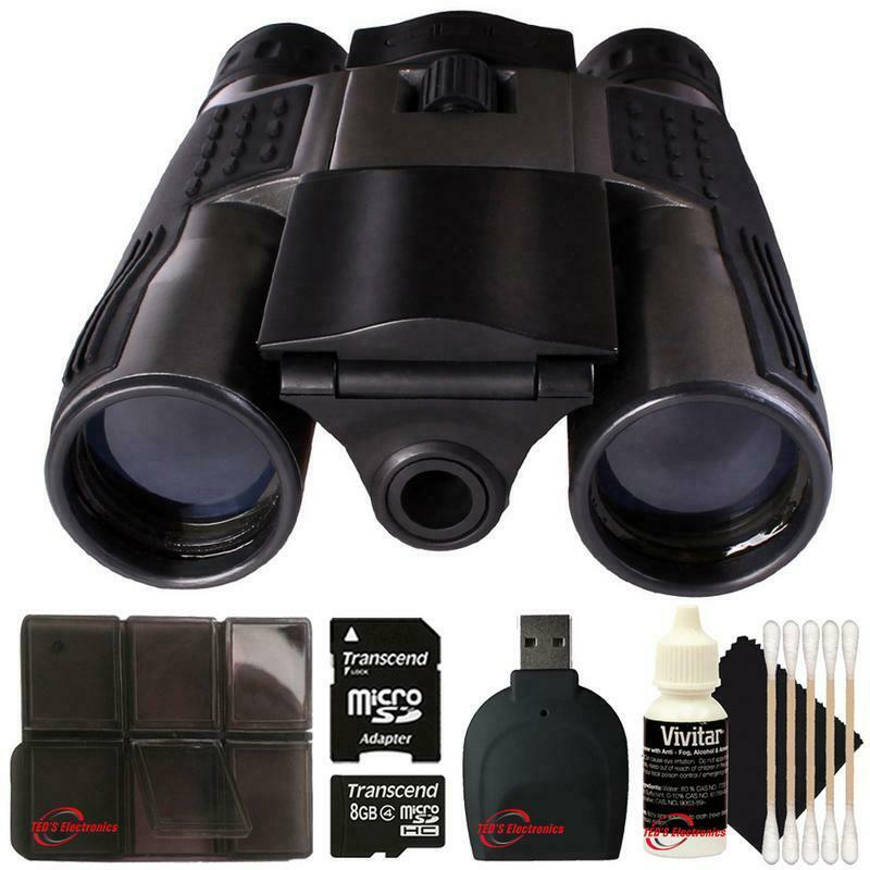 Vivitar VIV-CV-1225V 8MP 2-in-1 Binoculars and Digital Camera Black Kit