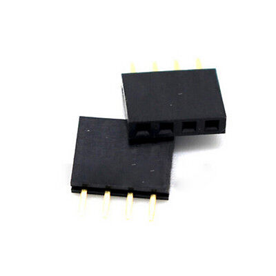 20pcs 4 Pin Female Tall Stackable Header Connector Sockets For Arduino Shieldme