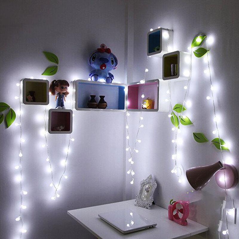 10m 100led ball kugel lichterkette weihnachten led kette. Black Bedroom Furniture Sets. Home Design Ideas