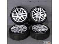 "New 18"" Helios Style Alloy Wheels for Golf Mk5 Golf Mk6 Jetta Passat Caddy Van"