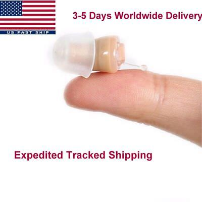 A Pair Of Small In The Ear Cic Invisible Hearing Aid Sound Amplifier Enhancer
