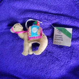 Brand new beautiful fair trade handmade camel decoration Xmas gift