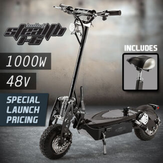 Stealth Serie 1000W Electric Scooter 48V  Off Road + Turbo w/ LED Seven Hills Blacktown Area Preview