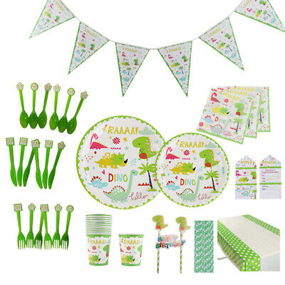 Kids Dinosaur Theme Birthday Party Supplies Decorations Tableware Cup Plate Gift - Dinosaur Plates