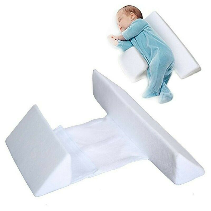 Newborn Baby Side Sleep Pillow Support Wedge Infant Adjustable Anti-roll Cushion