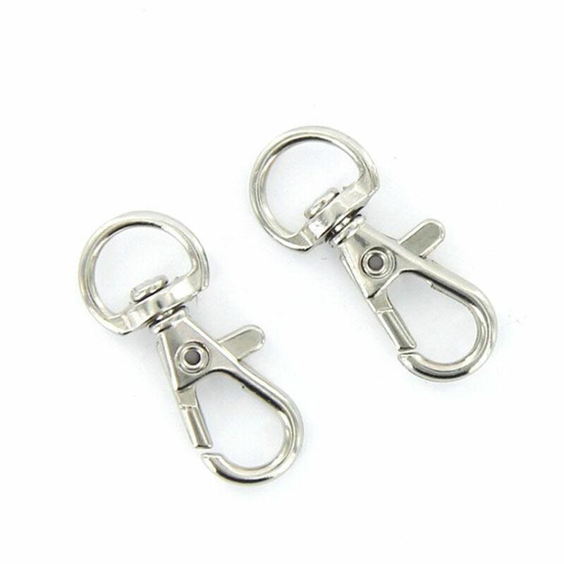 10pcs Mini Split Keychain Key Ring Clips Snap Hook Hanging C