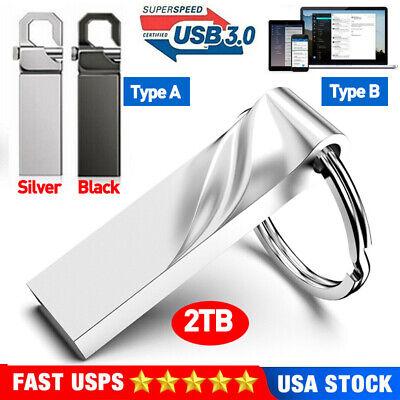 USB 3.0 2TB Flash Drive Metal Pen Drive Memory Storage U Disk For PC Laptop New