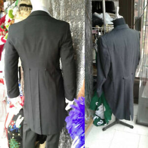Quality vintage suits, tailcoat tuxedos and new top hats.