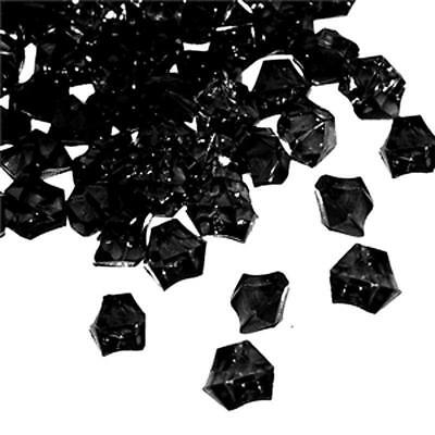 3lbs Black Acrylic Ice Chips Table Scatter Halloween Haunted House Decorations  - Table Halloween Decorations