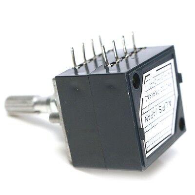 Potentiometer 250k Log Alps Audio Amp Volume Control Pot Stereo W Loudness K9