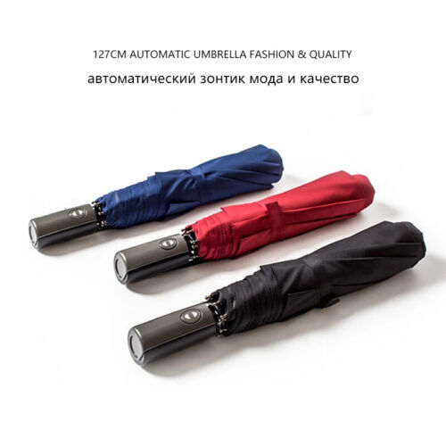 120cm Large Folding Umbrella Men Rain Woman Double Golf Business Gift Paraguas