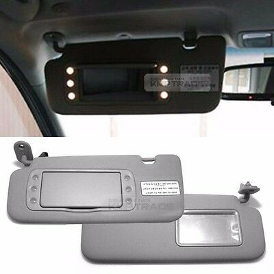 OEM Interior LED Hand Sun Visor Shade Left Right Gray for KIA 2011-2017 Picanto