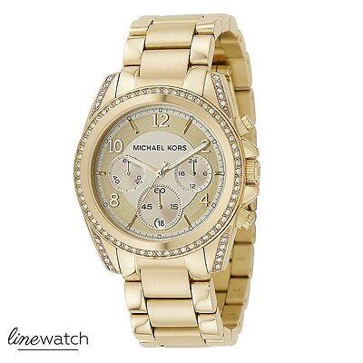 Michael Kors MK5166 Blair Damen Uhr Chronograph Uhr Goldfarben NEU OVP