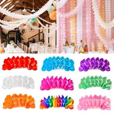 3M Hanging Tissue Paper Clovers Garland String Wedding Party Home Decoration NEW (Tissue Garland)