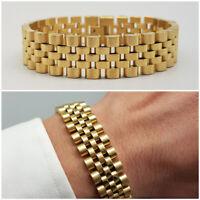 0a734c9ba8bb9c Bracciale uomo acciaio maglia con braccialetto in oro catena da regolabile  inox