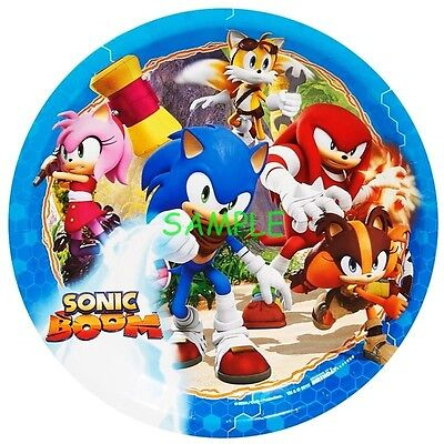 Sonic Boom Round Edible Birthday Cake Topper Frosting Sheet Decoration (Sonic Cake)